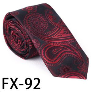 New Design Fashionable Novelty Paisley Silk/Polyester Necktie (Fx-92) pictures & photos