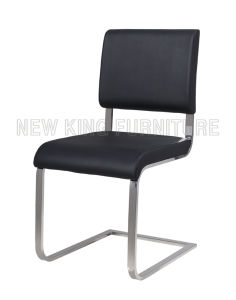 Modern Simple Design Cheap Chrome Steel Foot PU Leather Dining chair (NK-DC075) pictures & photos