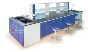 School Lab Table for Six Students Lab Bench (GT-03) Lab Desk for Testing Laboratory Equipment Furniture pictures & photos