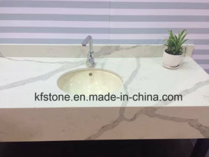 20mm Elegent Pattern White Artificial Quartz Stone for Building Materials pictures & photos