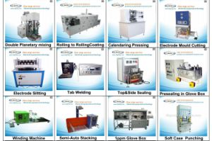 Four Station Turntable Type Top-Side Heat Sealing Machine for Lithium Battery pictures & photos