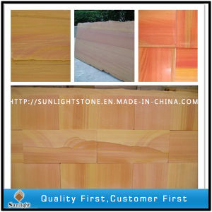 China Rainbow/Multicolor Sandstone Paving Tiles pictures & photos
