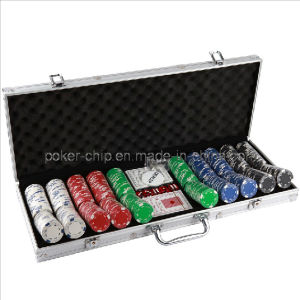 500PCS Poker Chip Set in Square Corner Real Aluminum Case (SY-S75) pictures & photos