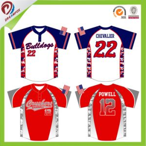 fashion Any Logo Custom Baseball Shirt Dri Fit Softball Jersey pictures & photos