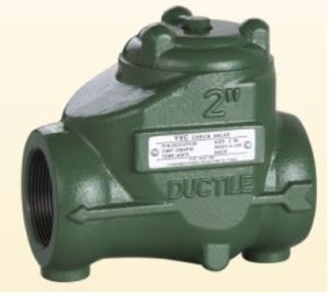 Ductile Iron Swing Check Valve, NPT, Threaded End