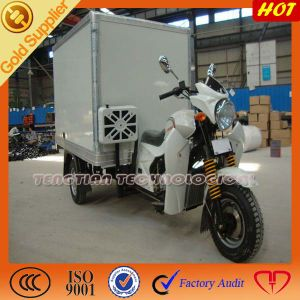 Gasoline Motorized Cargo Motorcycle with Ice Container pictures & photos