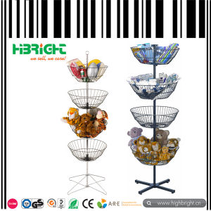 Metal Round Display Rack for Supermarket Food pictures & photos
