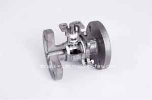 2PC Flanged End with Direct Mounting Pad DIN Pn16/Pn40 Ball Valve pictures & photos