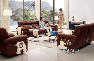 Brown Italian Leather Recliner Sofa by Electric for Home pictures & photos
