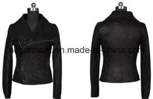 Fashion Punk PU Coat for Lady/Women, Leather Jackets pictures & photos