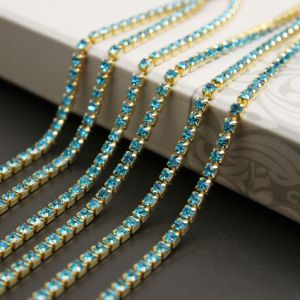 Rhinestone Cup Chains with Colorful Stones for Garments Accessory pictures & photos