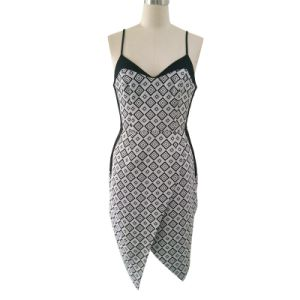 Ladies Fashion Casual Dress in Jacquard