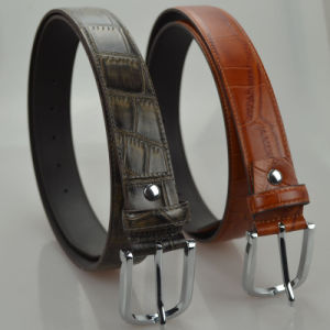Tailor Smith Top Grain Genuine Leather Belt Solid Grey Brown Fashion Formal Business Party Strap Belts pictures & photos