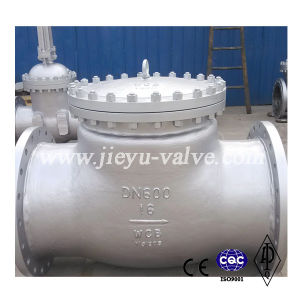 Pn16 Dn600 Carbon Steel Swing Check Valve pictures & photos