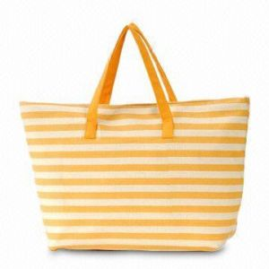 Lady′s Fashion Stripe Tote Bag for Shopping pictures & photos