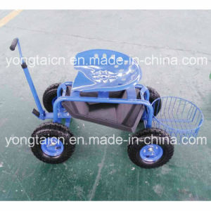 Deluxe Garden Tractor Scoot with Round Basket pictures & photos