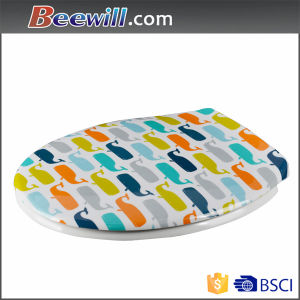 Standard Size Hot Selling Printed Soft Close Toilet Seat pictures & photos