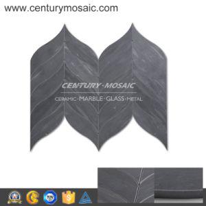 Polished Greenland Gray No Joint Irregular Waterjet Mosaic Wall Tile