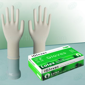 9 Inch Malaysia Natural Rubber Disposable Examination Latex Glove pictures & photos