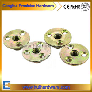 Blue/Color Galvanized Tee Nut / Plate Nut / Three Hole Nut pictures & photos