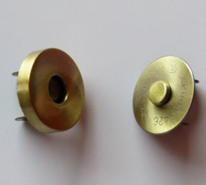 Eco-Friendly Gold Plating Strong Magnetic Buttons for Handbags pictures & photos