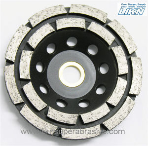 Double Row Diamond Grinding Wheel for Concrete