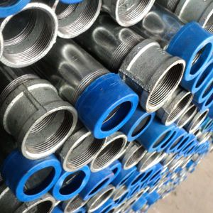 Pre-Galvanized Pipe Threaded Ends with Socket and Cap pictures & photos
