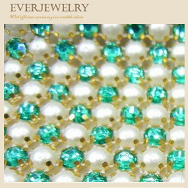 Pearl and Rhinestone Metal Mesh pictures & photos