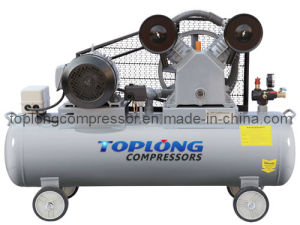 Piston Reciprocating Belt Driven Air Compressor Air Pump (V-0.6/8) pictures & photos