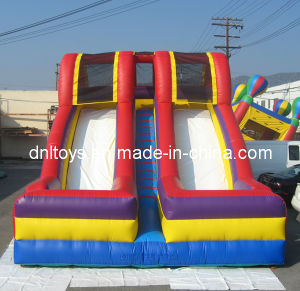 Children Inflatable Double Lane Slide