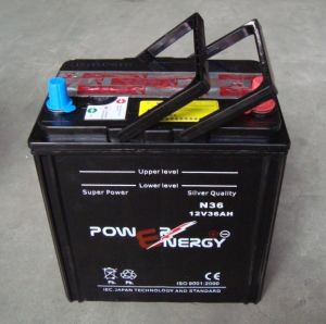 Ns40 12V36ah JIS Standard Dry Charged Lead Acid Car Battery pictures & photos