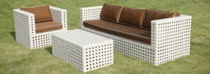 Rattan Outdoor Sofa (963) , Rattan Wicker Sofa, Plastic Garden Sofa