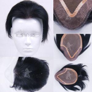 Wholesale Price Men′s Toupee Hair Extension pictures & photos
