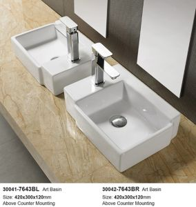 Family Lavatory Cabinet Wash Basin (30041) pictures & photos