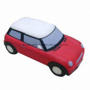 Car Mini Cooper Design PU Foam Promotional Toy Stress Ball