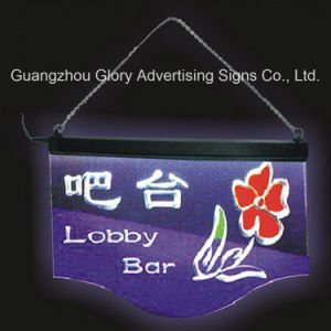 Writing LED Signboard/Erasable LED Hanigng Writing Board pictures & photos