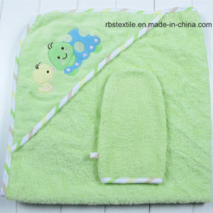 Promotional Cotton Hooded Bath Towel and Wash Cloth Set pictures & photos
