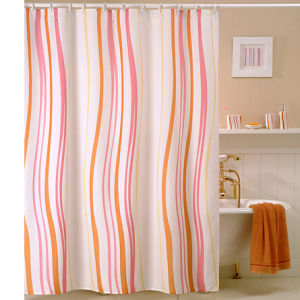 Fashion Ruffle Polyester Shower Curtain pictures & photos