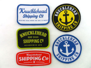 Garment Accessories Private Clothing Label Custom Embroidered Patches Woven Label pictures & photos