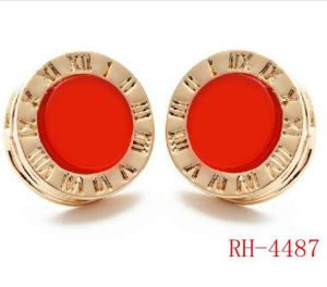 Rh-4487 Hot Selling Colorful Acrylic Stud Earrings