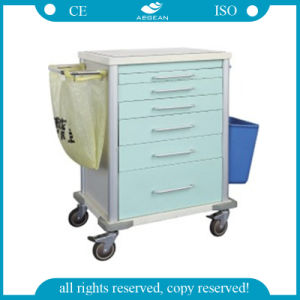 (AG-MT025) ABS Hospital Medicine Cart pictures & photos