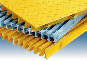 FRP Grating and GRP Pultruded Grating and FRP Pultrusion&Pultrded Profile Steel Bar. pictures & photos