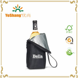 Customized 70d Polyester Wine Cooler Bag/Insulated 1 Bottle Wine Cooler Bag pictures & photos