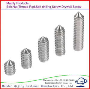 Stainless Steel, Carbon Steel, Socket Set Screw with Cone pictures & photos