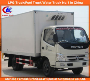 Heavy Duty 4*2 Foton Mini Cooling Van Truck for Sale pictures & photos