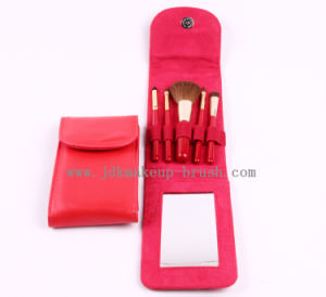 Promotional Make up Brush Set with Mirror Pouch (JDK-PSA185-1)