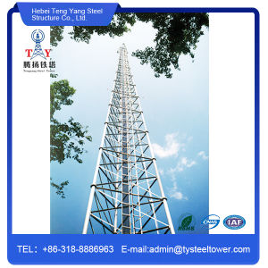 Galvanized Self Supporting Communication Tubular Steel Tower pictures & photos