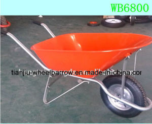 Wheelbarrow Design Made in China Heavy Duty Steel Wheelbarrow Wb6800 pictures & photos
