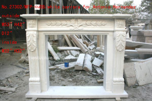 White Carrara Antique Hand Carved Marble Fireplace Mantel Sy-Mf324 pictures & photos