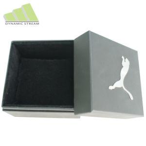 Black Matte Watch Box with Silver Foil Logo